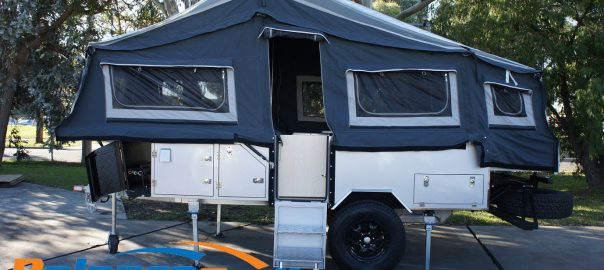 camper trailer image with soft top