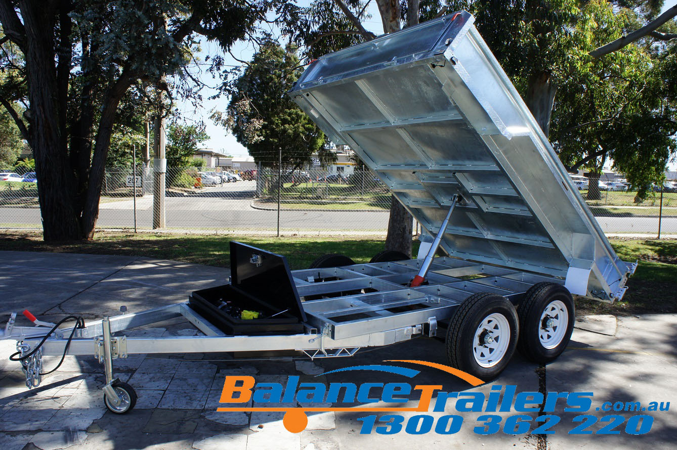 10×6 Galvanised Hydraulic Tandem Tipper Trailer ATM 3500KG (Model: BT16HTE-450)