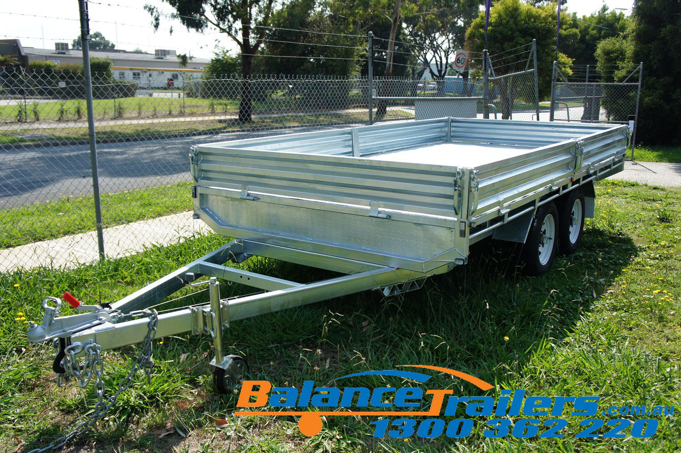 14×7 Heavy Duty Fully Welded Flat Top Tandem Trailer ATM 3500KG (Model No: BT47FTE)